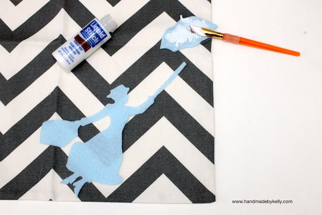 DIY DISNEY inspired MARY POPPINS chevron pillow