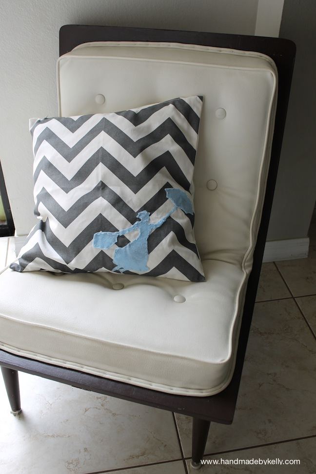 DIY MARY POPPINS CHEVRON PILLOW CRAFT