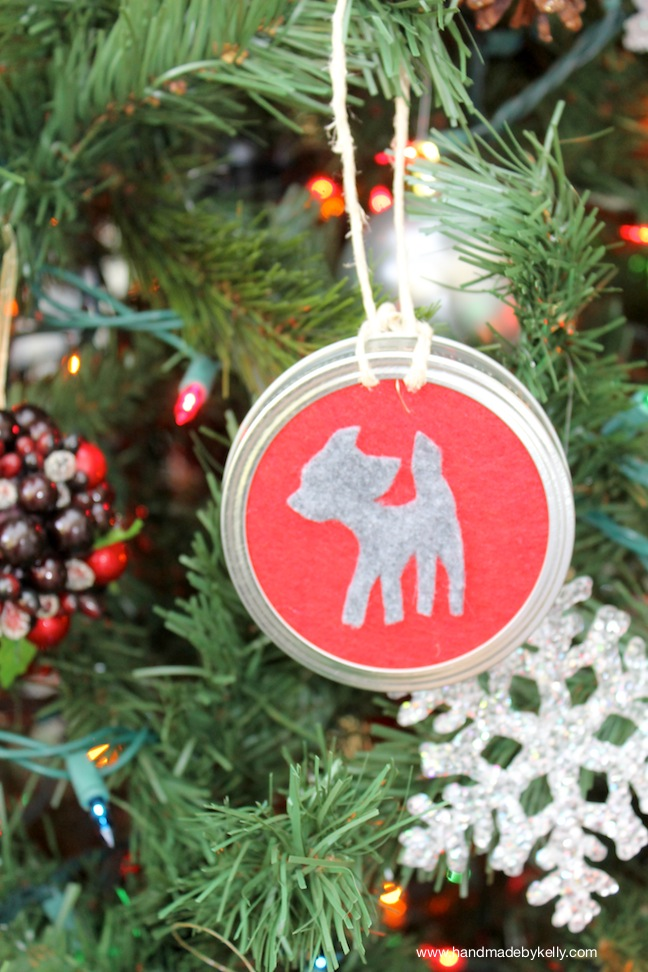 DIY Woodland Animal Silhouette Christmas Ornament Craft; www.handmadebykelly.com; kelly ladd sanchez