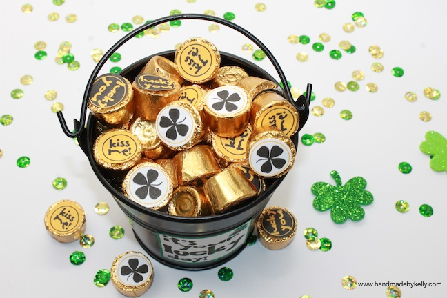 Free St. Patrick's Day printable labels; www.handmadebykelly.com; www.onlinelabels.com