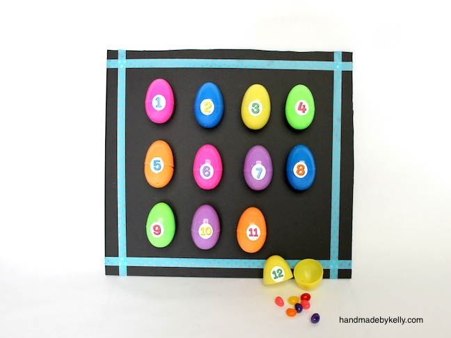 DIY Countdown to Easter board + free Easter printable labels