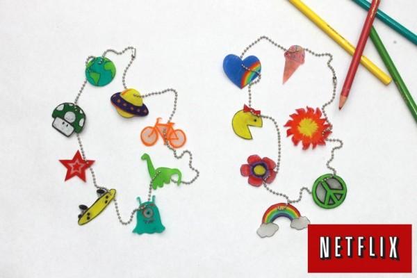 handmadebykelly.com Shrinky Dink Necklace Craft