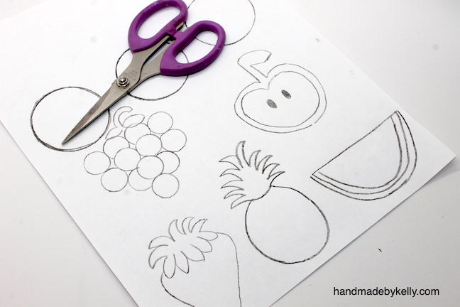 How to make fruit magnet crafts - handmadebykelly.com