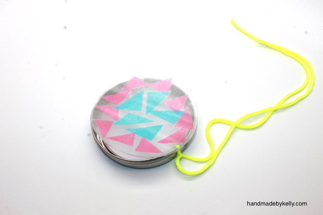 How to Make Tissue Paper Sun Catcher Craft; handmadebykelly.com