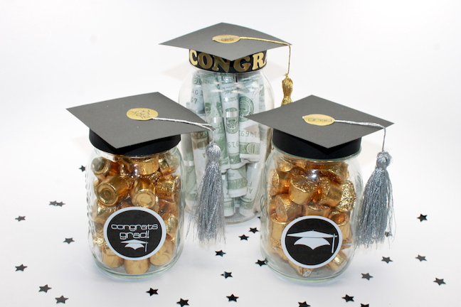 Diy Graduation Mason Jar Party Favors And Grad Gift Craft Free