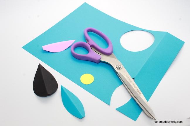 how to make an egg carton mask craft; handmadebykelly.com