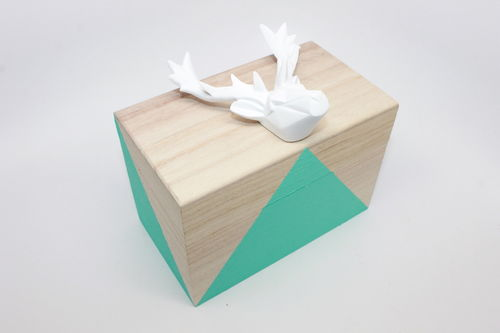 Geometric Animal Head DIY Jewelry Box - GIFT ON A BUDGET - thestir.com; handmadebykelly.com