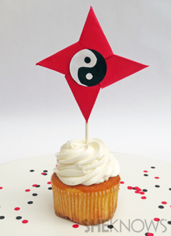 ninja-party-cupcake-topper handmadebykelly.com; sheknows.com