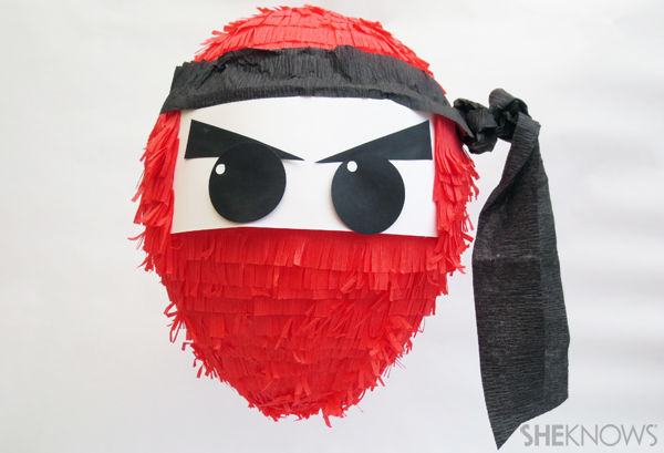 ninja-party-pinata handmadebykelly.com; sheknows.com
