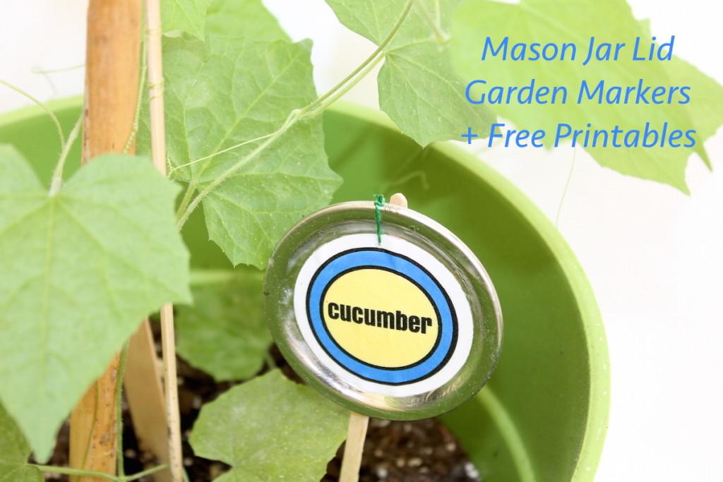 diy garden plant markers; handmadebykelly.com; onlinelabels.com