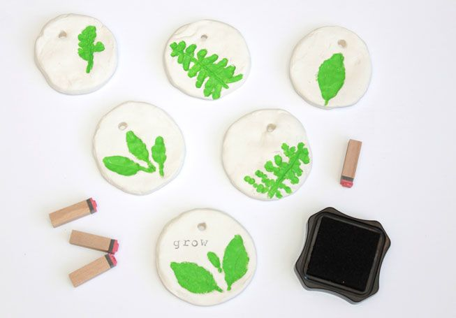 Leaf Pressed Clay Gift Tags; MNN.com; Handmadebykelly.com