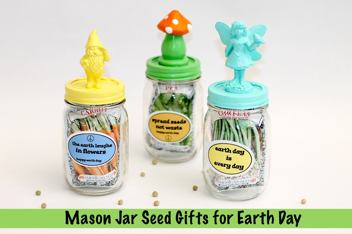 Earth Day Mason Jar Seed Gifts; onlinelabels.com; handmadebykelly.com