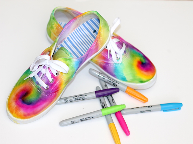 Tie Dye Sharpie Sneaker Project