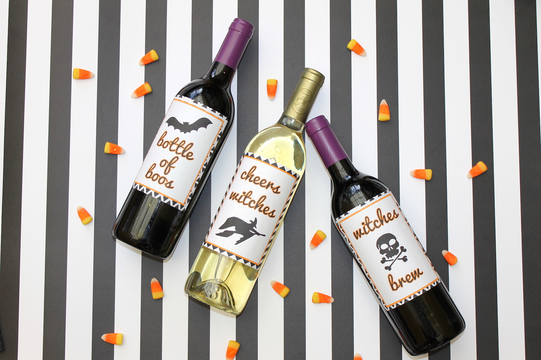 halloween wine labels + free printable; onlinelabels.com; handmadebykelly.com IMG_3304